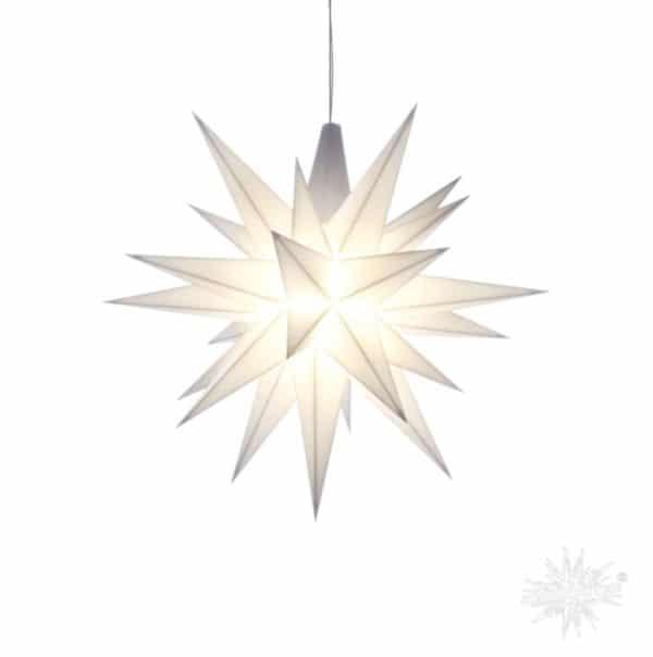 Herrnhuter Stern weiß 13 cm klein