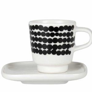 Marimekko Räsymatto Espresso Tasse Unterteller Punkt
