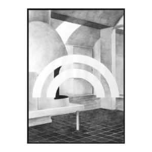 By Lassen Silhouette Druck Print Grau