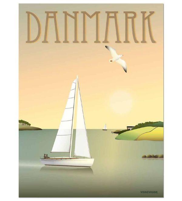 Vissevasse Poster Sailboat Segelboot Dänemark Danmark Sport