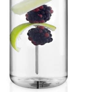 Eva Solo My Flavour Trinkflasche mit Spieß Glas klar